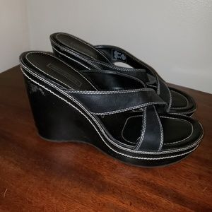 Harley Davidson Wedge Sandals size 8M